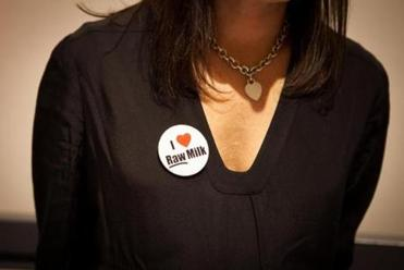 "Filmmaker Kristin Canty, director of ""Farmageddon,'' wore her message proudly."